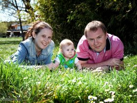 Yulia & Vladimir + Vlada, a beautiful family shooting near…